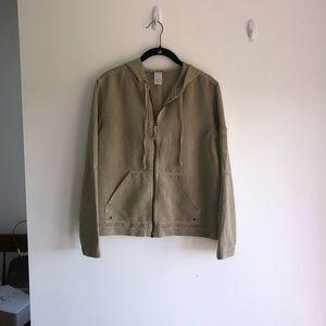 Jacket khaki green long sleeves size M
